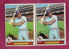 2 X 1979 TOPPS # 285 RANGERS BOBBY BONDS  NRMT CARD (INV# A2092)