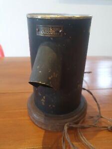 VINTAGE ANTIQUE BRASS LIGHT LAMP HAWKSLEY LONDON MEDICAL WW2 INDUSTRIAL RARE