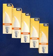 5 X OSRAM Ampoule bougie Coup de vent satiné 40W E14 DECOR