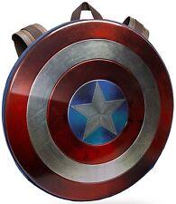 MARVEL Civil War Captain America Hard Battle Damage Distressed Shield Backpack