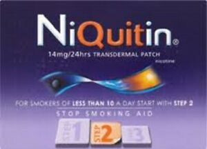 Niquitin Thinflex Step 2 14mg 7 Patches = 1 Week Supply EXPIRYDEC20 Quit Smoking