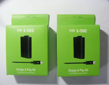 2x Rechargeable Battery+USB Charging Charger Dock For XBOX ONE /S Controller