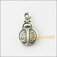 20 New Tiny Animal Beetle Tibetan Silver Tone Charms Pendants 8.5x15mm