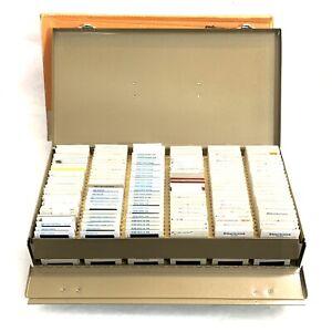 "Vintage Logan Double Decker Metal Slide Box For 2 X 2"" Slides- W/ 400+ Holds 600"