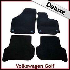 VW Golf Plus 2005-2013 Round Eyelets Tailored LUXURY 1300g Carpet Car Mats BLACK