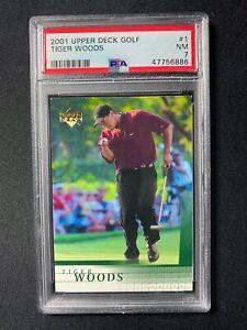 2001 Upper Deck Golf - Tiger Woods #1 - PSA 7