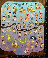 JAKE AND THE NEVER LAND PIRATES BY DISNEY, 2 SHEETS BEAUTIFUL STICKERS, #ISLA07