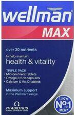 Wellman Max Nutrition Combination Vitamins & Minerals 84 Tablets/Caps UK**