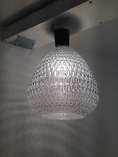 Kugel Lampe Kristallglas Tropfen 70er Jahre Design Crystal Lamp
