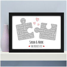 Personalised Gifts for Her Girlfriend Wife Puzzle Print Birthday Anniversary Him