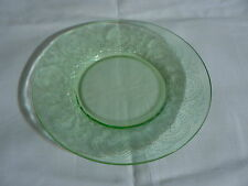 """VINTAGE INDIANA DEPRESSION GLASS GREEN HORSESHOE PATTERN BREAD & BUTTER PLATE 6"""""""
