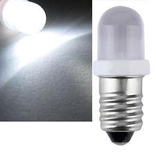 E10 LED Screw Base Indicator Bulb Cold White 6V DC Illumination Lamp Light IB