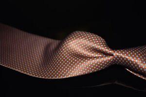 LNWOT Stefano Ricci Thick Liquid Gloss Satin Orange Blue Small Neat Silk Tie NR