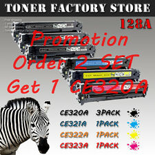 6PK 128A (3PK CE320A Black + 3PK Color Toner) For HP LaserJet Pro CM1415fnw