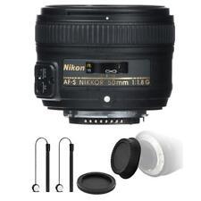 Nikon AF-S NIKKOR 50mm f/1.8G Lens with Accessory Kit For Nikon D5500 , D5600