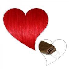 Easy Flip Extensions in rot 40 cm 90 Gramm Echthaar feuerrot your hair secret
