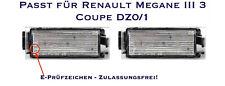LED SMD Kennzeichenbeleuchtung Renault Megane III 3 Coupe DZ0/1 (06)