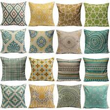 Cushion Cover Pillow Case Home Sofa Decor Linen Geometric Flower Hot Vintage AU