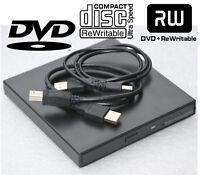 EXTERN USB DVD-RW CD-RW DVD-BRENNER BURNER FÜR WINDOWS XP 2000 WIN 7 8 10 #LW4