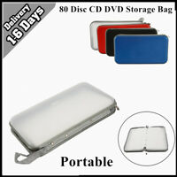 80 Disc CD DVD Bluray Storage Holder Solution Binder Book Carrying Case Sleeves