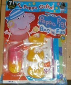 Peppa Pig Bag o' fun magazine #139 2021 Read Make Colour + Hook a duck & slinky