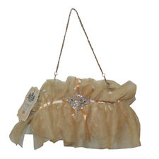 Gold Girls Large Ladies Flowergirl Wedding Handbag Clutch Bag Bridesmaid Prom1