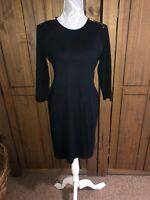 Ralph Lauren Ladies Sought After Black Dress With Zip Detail Size Large 12 14