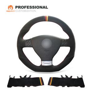 Black Suede Steering Wheel Cover for VW Golf 5 Mk5 GTI Golf 5 R32 Passat R G18