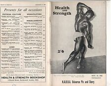 Health and Strength Bodybuilding Muscle Magazine/Paul Wynter 11-66 G.B.