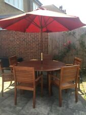 Wooden Table And 6 Chairs (Garden Furniture)