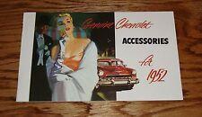 1952 Genuine Chevrolet Accessories Sales Brochure 52 Chevy