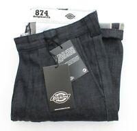Dickies 874 Selvedge Raw Denim Mens Work Pant Jeans Blue BNWT - W32 L33