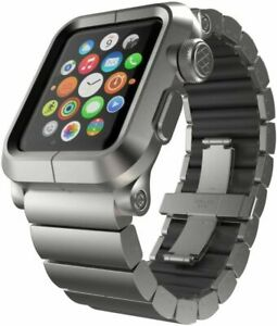 LUNATIK EPIK-013 Silver Aluminum Case and Link Band for Apple Watch 42mm