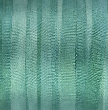 Silk Ribbon 100% Pure 4mm Embroidery Green Hand Dyed Spruce - 3 mtr