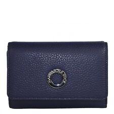 Mandarina Duck Mellow Leather Portemonnaie Geldbörse Dress Blue FZP6508Q Blau