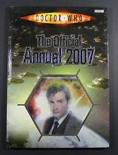 2007 BBC DR. WHO Annual - Hardcover UK exclusive book VG to EXC cond Holocover