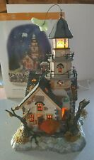 Dept 56 Snow Village Halloween Shipwreck Lighthouse In Box Spooky Flying Ghost