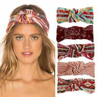 Women Fashion Turban Twist Knot Head Wrap Headband Twisted Knotted Hair Band