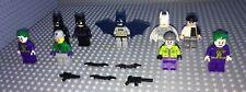 9 Lego Mini Figures / Batman / Joker / Henchmen / Accessories / Gothlem /Bat Man