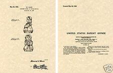 SHAWNEE BO PEEP SHAKER US Patent Art Print READY TO FRAME! 1945 Ganz salt pepper