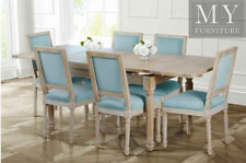 Esteban LARGE Extending Dining Table - Solid Oak French Style
