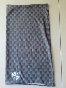 SA Co grey & black check boys' face & neck shield, bandana, tube, mask, scarf
