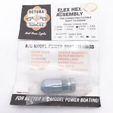 Octura OCFH51625 Flex Hex 516-24 Shaft to .250 Cable Chris Craft Vintage Boat