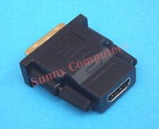 DVI D Male Dual Link to HDMI Female Connector Converter PC HDTV Adapter Socket