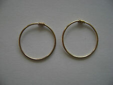 Gold Filled 16mm Endless Hoop With Coil Earrings New