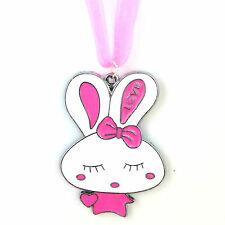 16 Inch Enamel Bunny Necklace & Pendant Gift for Girls