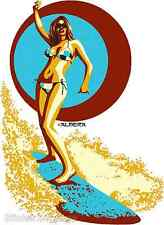 Surfer Girl Sticker Decal Poster Art Marco Almera MA32