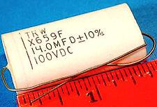 CAPACITOR TRW X659F - 14.0 μF 100 VDC - *UNUSED* *NOS* *VINTAGE* Qty:2