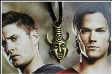 Vintage Supernatural Jensen Ackles Dean Winchester Protection Amulet necklace