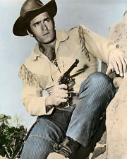 "CLINT WALKER CHYENNE BODIE HOLLYWOOD ACTOR 8x10"" HAND COLOR TINTED PHOTOGRAPH"